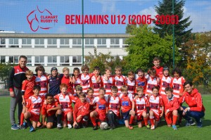 clamart rugby92 u12 benjamins école de rugby Ile de France