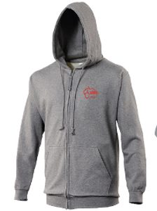 Boutique en ligne Clamart Rugby 92 Gilet avec capuche adulte gris