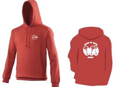 Boutique en ligne Clamart Rugby 92 gilet avec capuche rouge pour enfant
