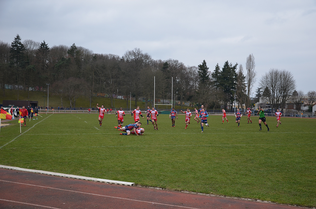 Clamart Rugby 92 Victoire des seniors contre Arras Photo essai 19-02-2017