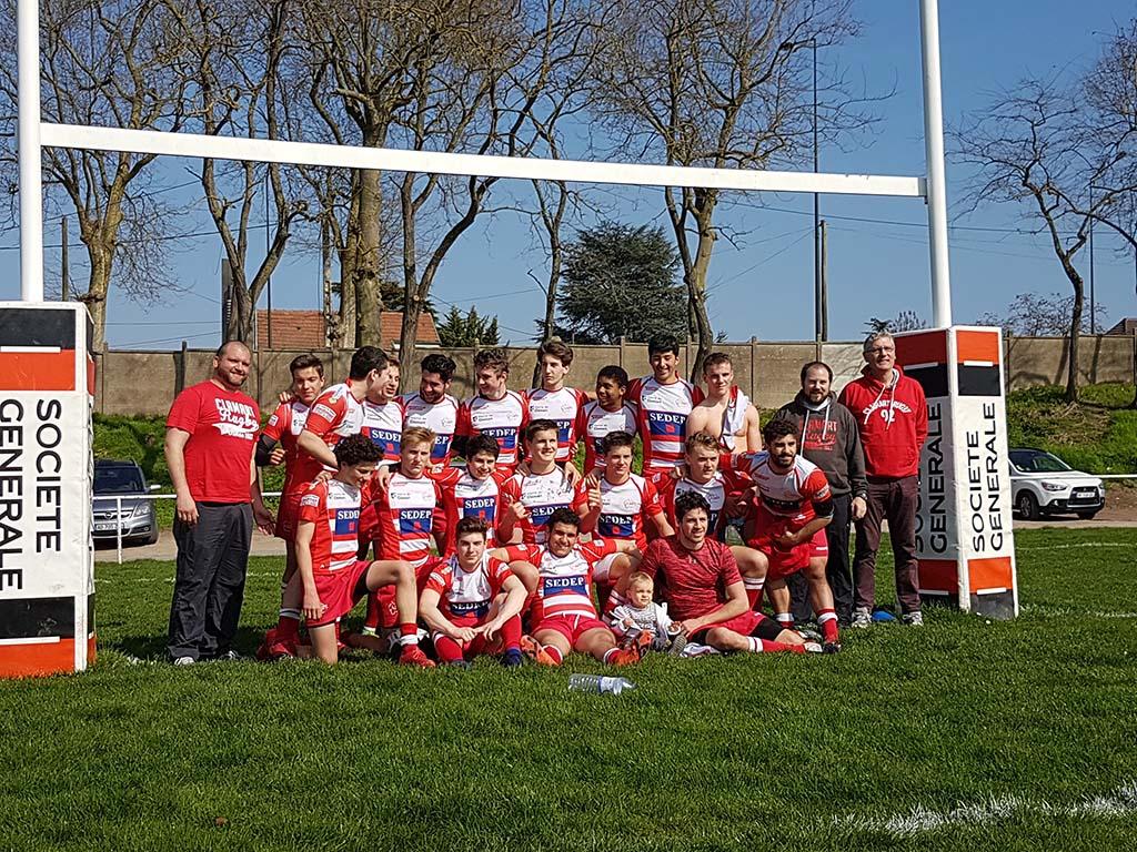Clamart Rugby 92 Victoire des juniors contre Pays de Meaux 26 mars 2017