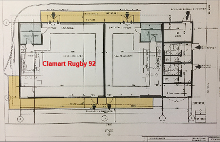 Clamart Rugby 92 le Club House du Stade de la Plaine Plan