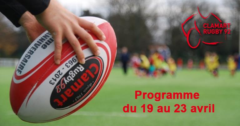 Programme du 19 au 23 avril