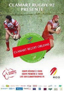 Clamart-Rugby-92-affiche-contre-Orleans