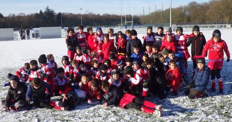 De la neige et du rugby