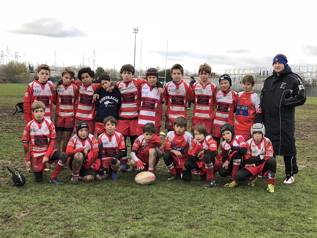 Clamart Rugby 92-Les U8-U10-U12 contre le Racing Nanterre-U12 groupe