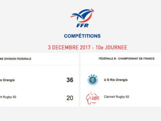 Clamart Rugby 92 Les seniors perdent contre Ris Orangis 3 décembre 2017