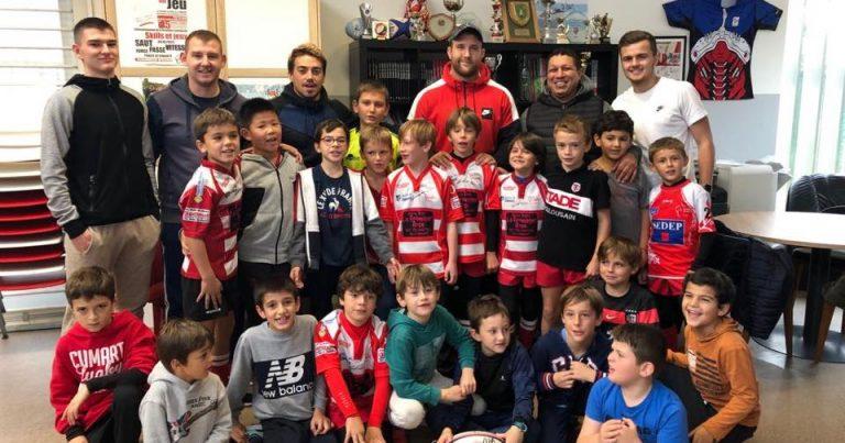 Visite de Loïc Godener lors du stage de l'Ecole de rugby