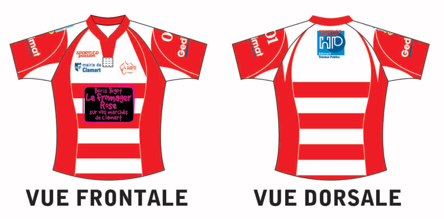 Nouveau maillot des équipes de Clamart Rugby 92