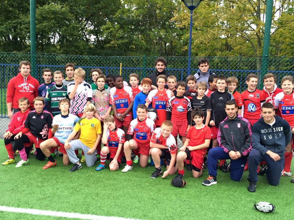 Stage de la Toussaint des U12 et U14 de l'Ecole de Rugby de Clamart Rugby 92