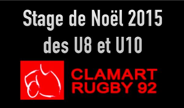 Stage de Noël 2015 de l'école de rugby du club Rugby Clamart 92