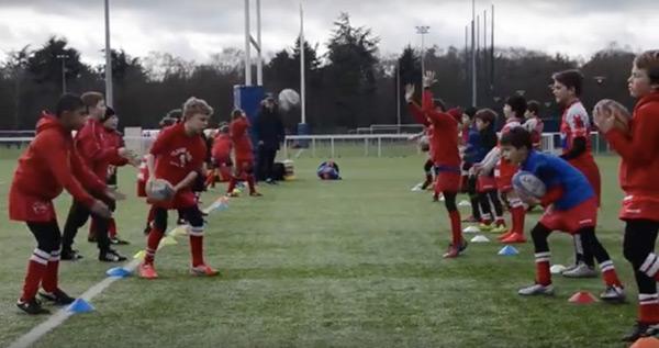 entrainement U10 école de rugby Clamart 92