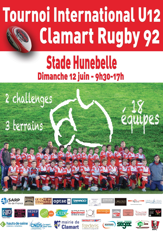 Affiche Tournoi International U12 de Clamart Rugby 92