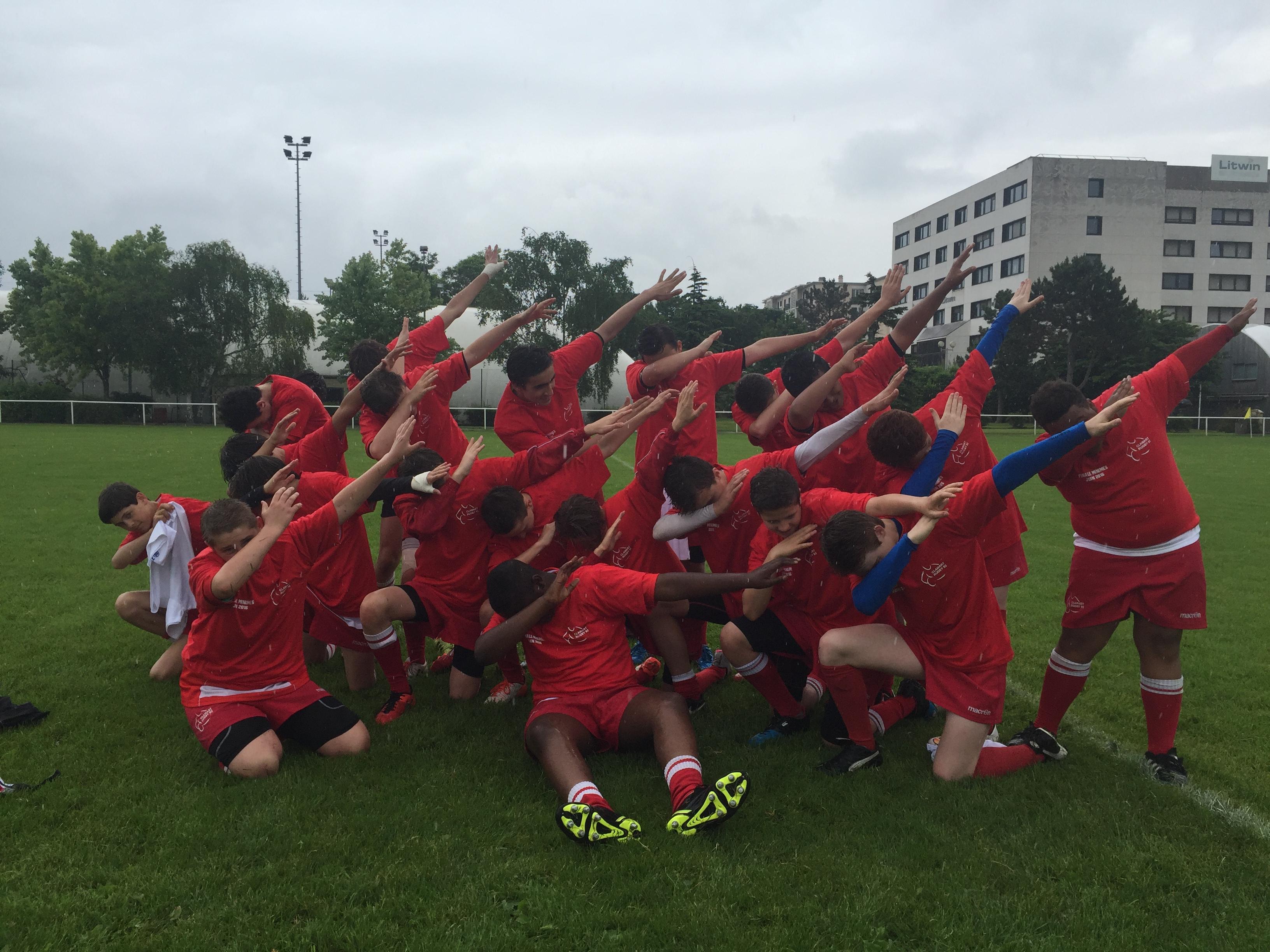 Les U14 remportent leur finale - Clamart Rugby 92-2