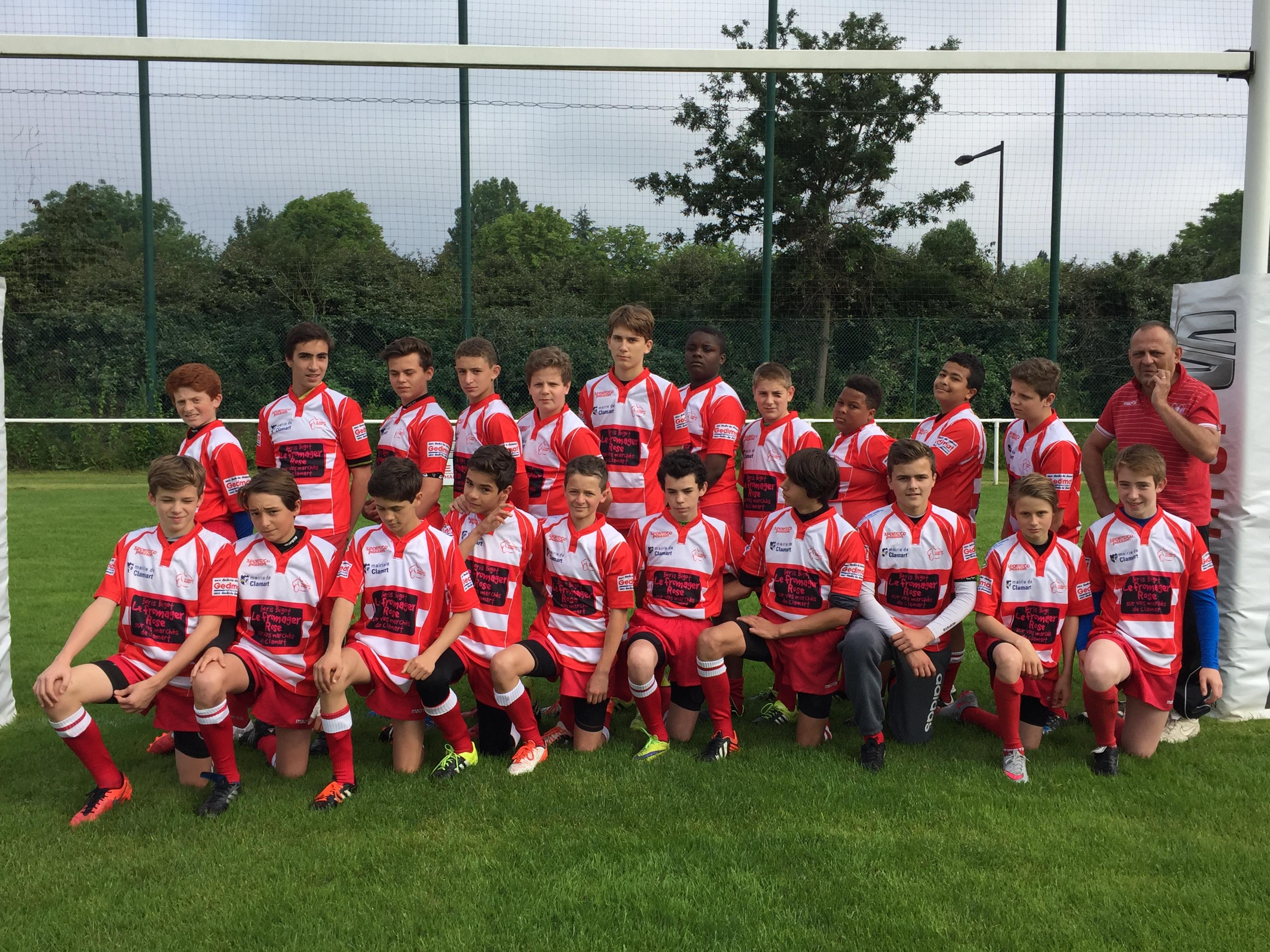 Les U14 remportent leur finale - Clamart Rugby 92-3