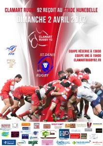 Clamart Rugby 92 contre St Denis - 2 avril 2017