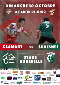 Seniors Clamart Rugby 92 contre Suresnes 30 octobre 2016
