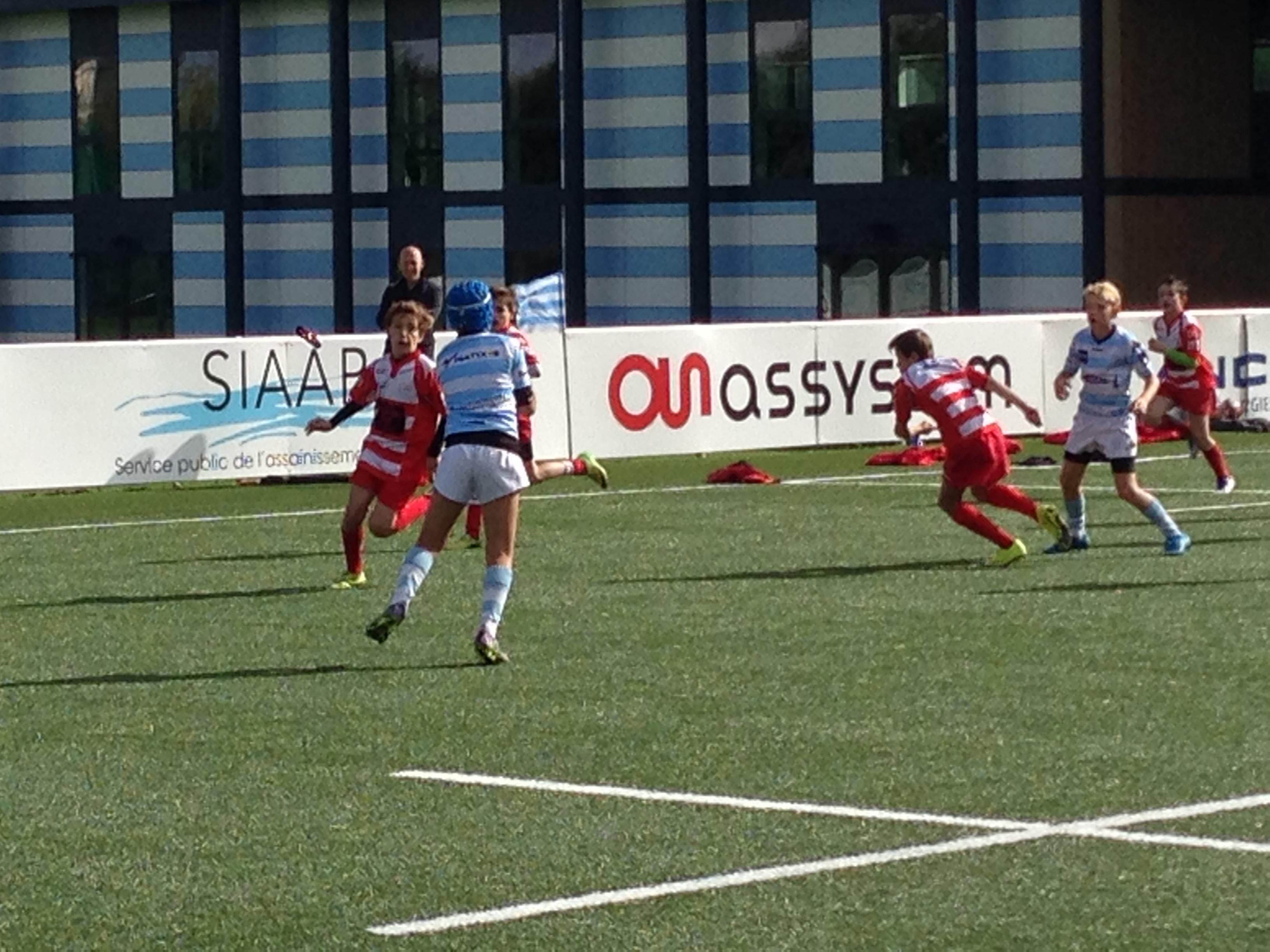 premieres rencontres u14 clamart rugby 92 équipe 2004