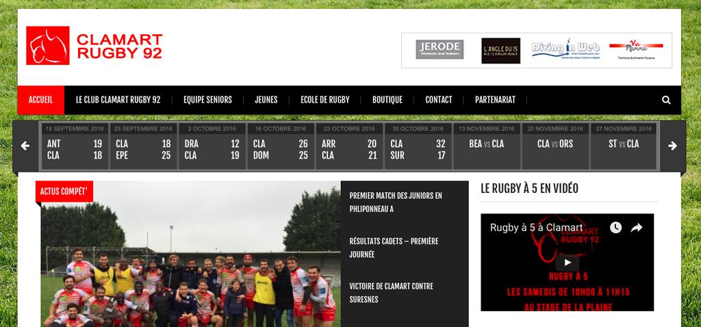 Sponsoring site web pub horizontale haut de page