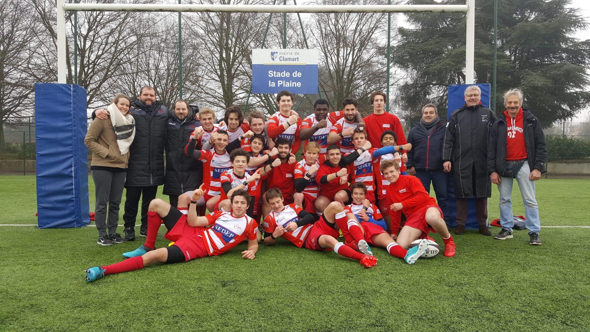 Clamart Rugby 92 Juniors: une victoire bien particulière