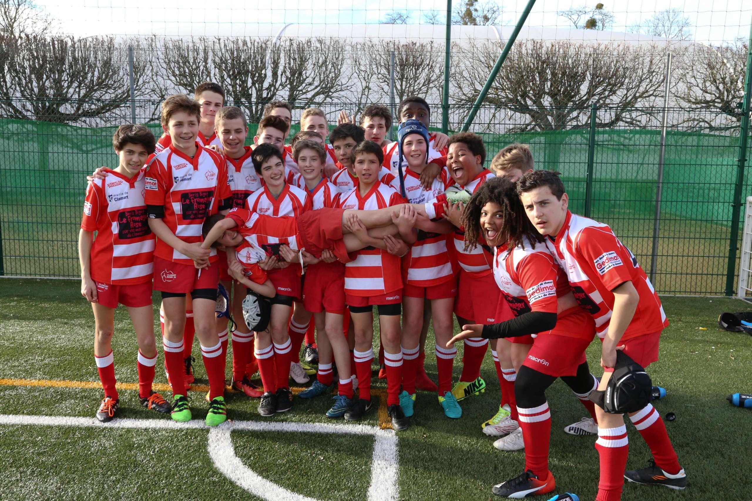 Clamart Rugby 92 Plateau CIFR U14 2003 de Vincennes 11 mars 2017