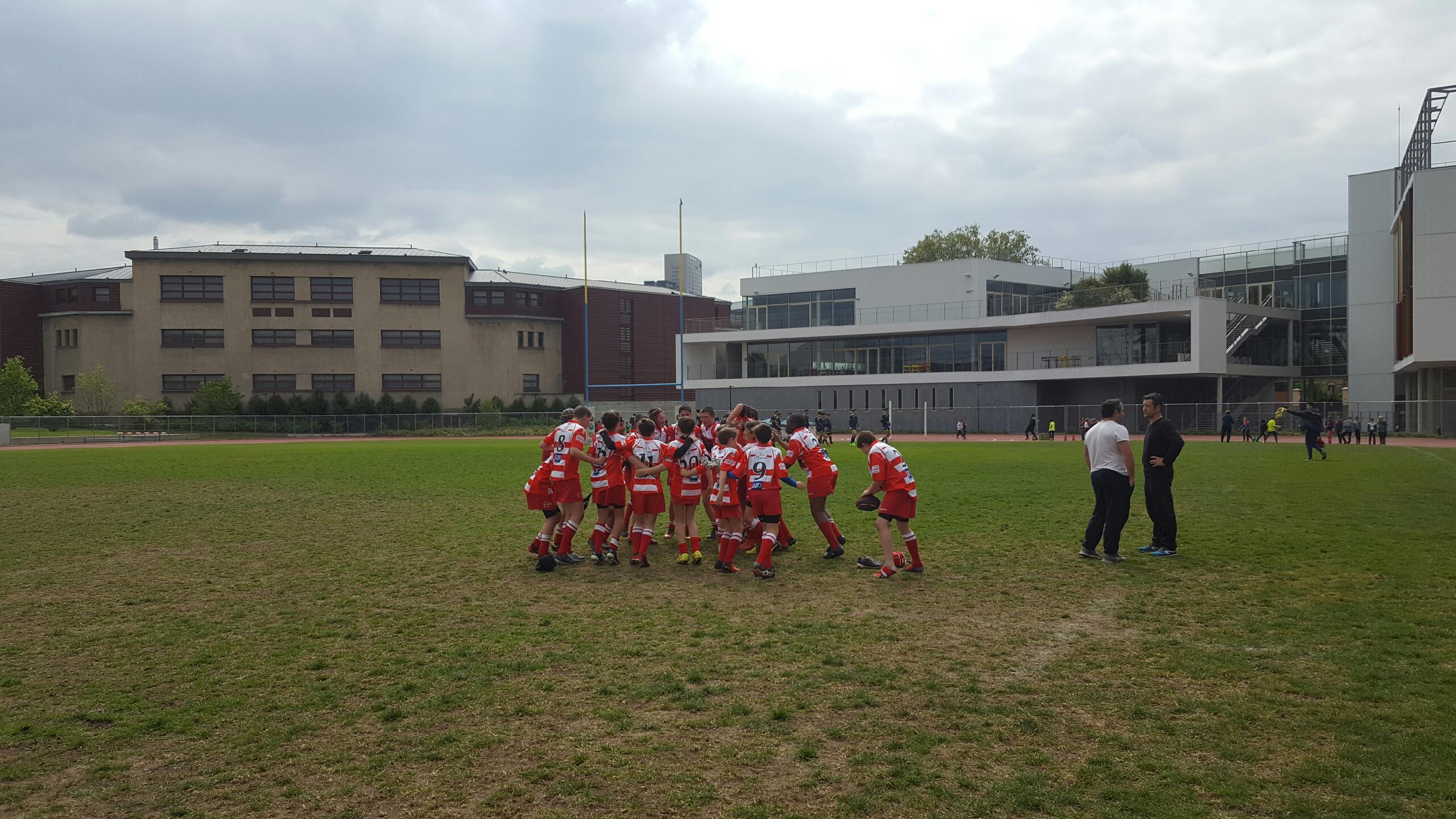 Clamart Rugby 92 Victoire des U14 2004 contre Courbevoie le 22 avril 2017