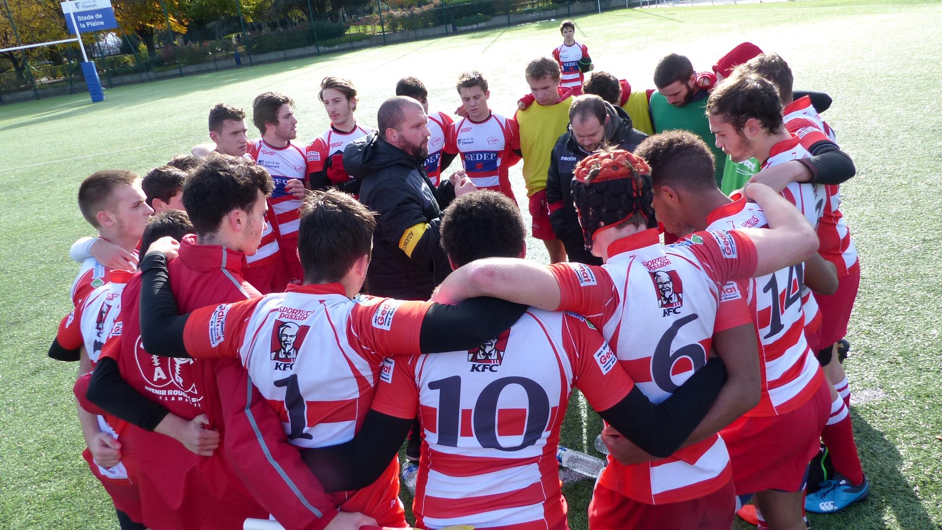 Clamart Rugby 92 -1er match de phase qualificative en Balandrade 12 novembre 2017