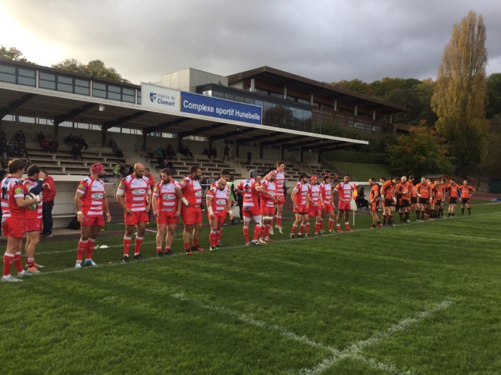 Clamart Rugby 92 Fédérale 2 Défaite contre Orsay