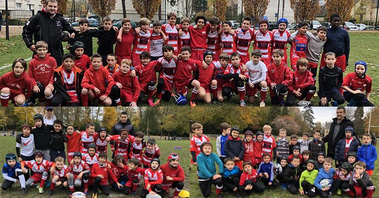 Clamart Rugby 92 U8 U10 U12 Triangulaire Hauts-de-Seine 18 novembre 2017 à Antony