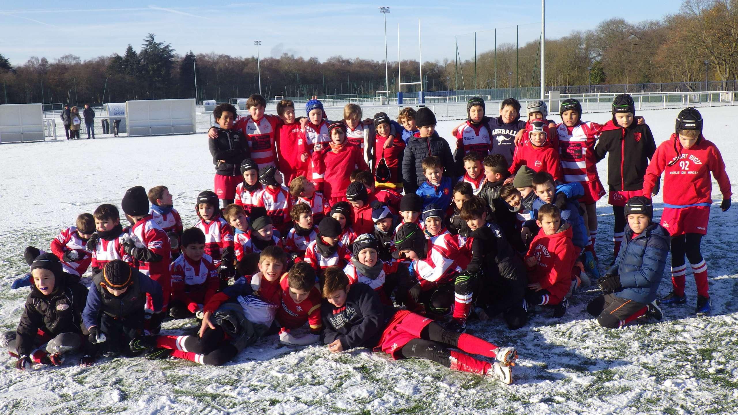 Clamart Rugby 92 - De la neige et du rugby samedi 9 décembre 2017