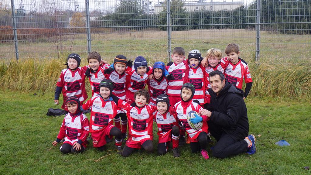 Clamart Rugby 92-Les U8-U10-U12 contre le Racing Nanterre-U10 groupe