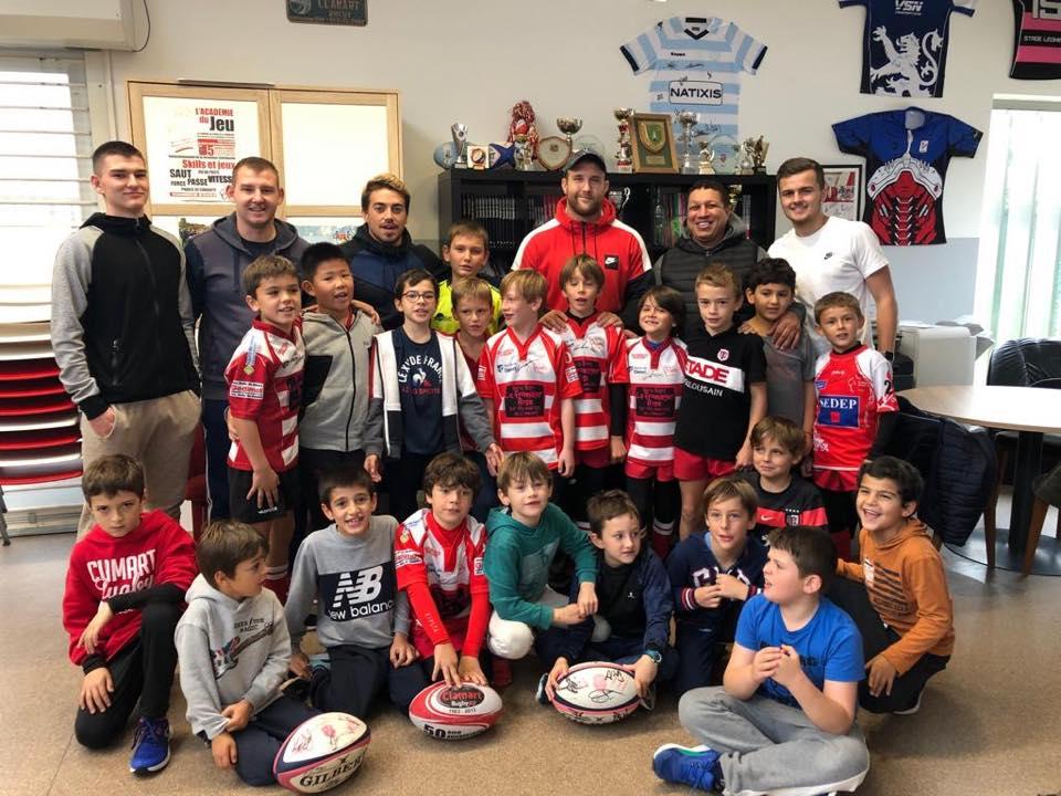 Clamart Rugby 92 Stage Ecole de rugby de la Toussaint 2019 Visite de Loïc Godener