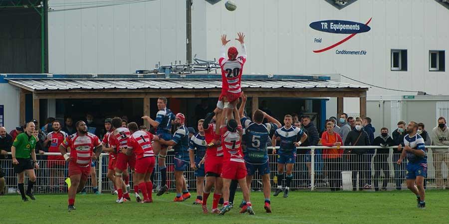 Défaite de Clamart Rugby 92 à Epernay Fédérale 3