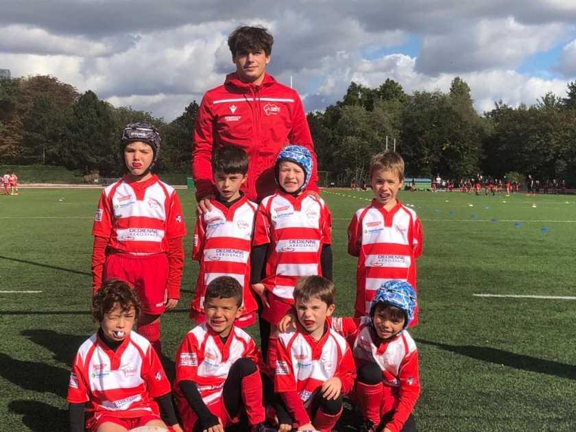 Résultats du 10 Octobre 2020 Ecole de Rugby de Clamart - photo d'équipe des U8