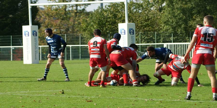 Défaite des séniors face à Versailles- Clamart Rugby 92 - fédérale 3 - photo d'un ruck