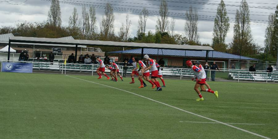 Défaite des juniors de Clamart Rugby 92 contre Rueil en Régional 1 le 3 octobre 2020-photo d'un coup d'envoi