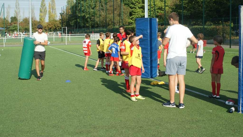 Le rugby continue à Clamart pendant les vacances scolaires - photo du stage des vacances d'octobre 2020