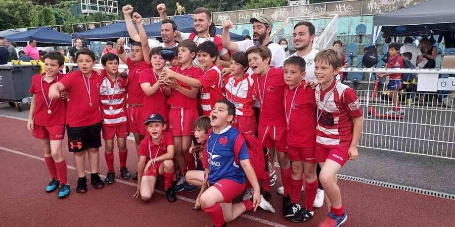 Tournoi du RCP15 et matchs amicaux des cadets et juniors - photo de la victoire des U10