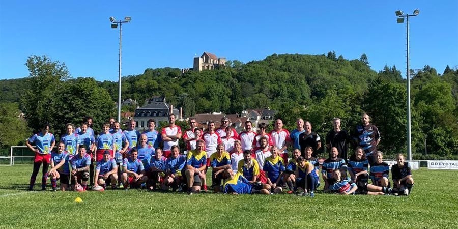 Reprise du Rugby à 5 - photo d'équipe à Chevreuse
