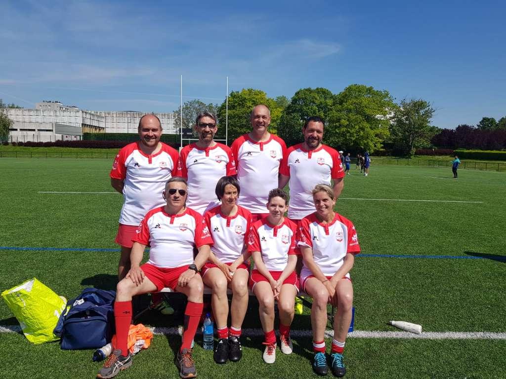 Reprise du Rugby à 5 - photo d'équipe à Massy