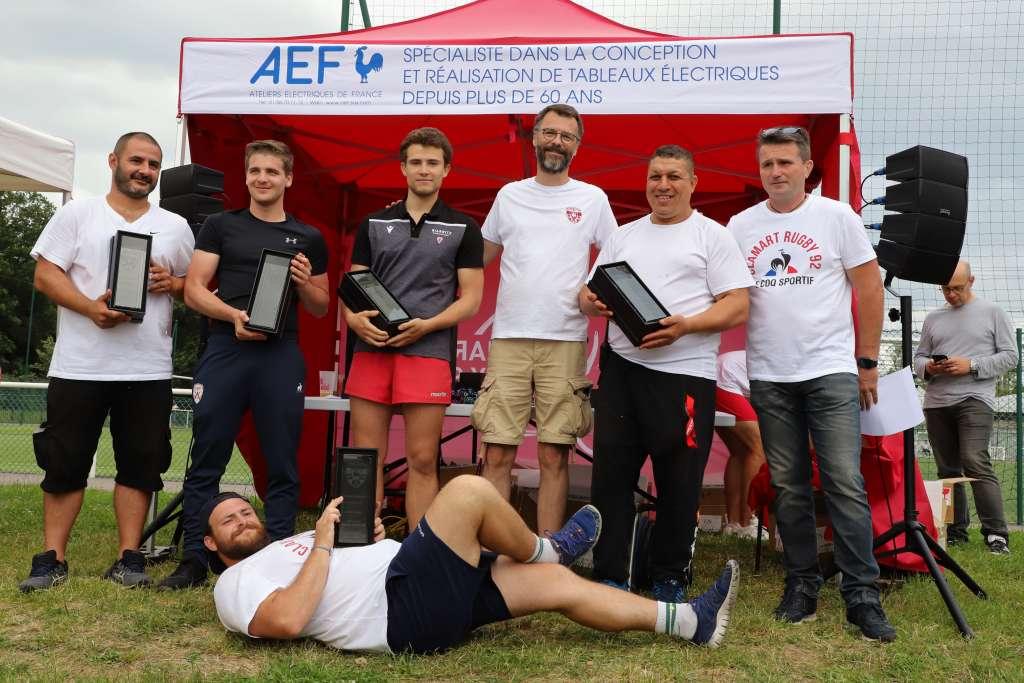 Fête du Clamart Rugby 92 saison 2020 / 2021 - photo de la cérémonie de remise des trophées de fidélité au club