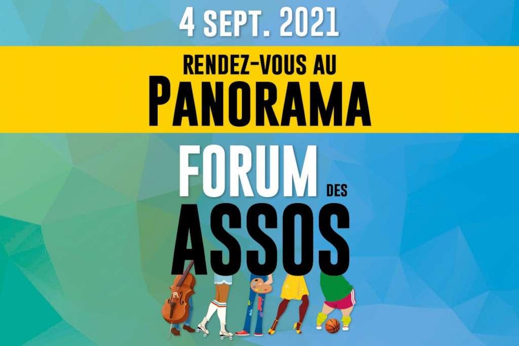 Image du Forum des Associations qui se déroulera le 4 septembre 2021 au Panorama