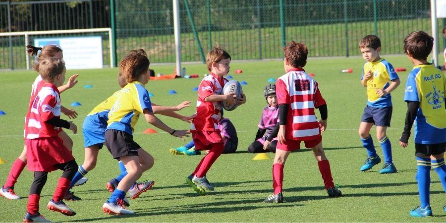 Troisième weekend de rencontres au Clamart Rugby 92 - photo des U8 en action